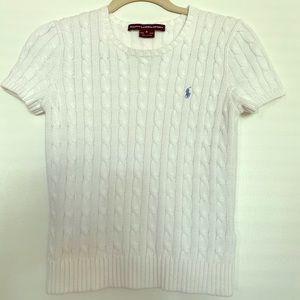 Short sleeve polo sweater